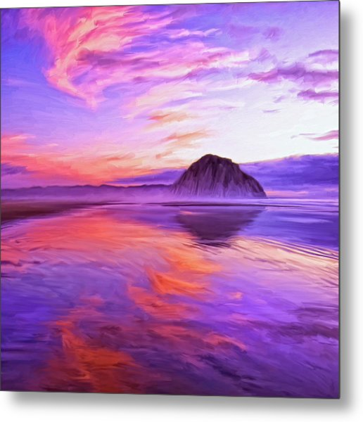 Dusk On The Morro Strand Metal Print