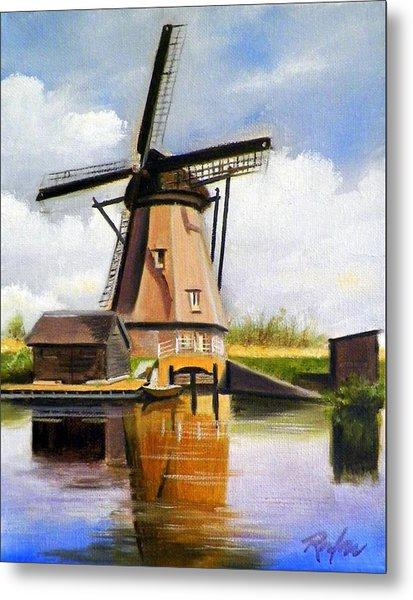 Dutch Windmill Metal Print
