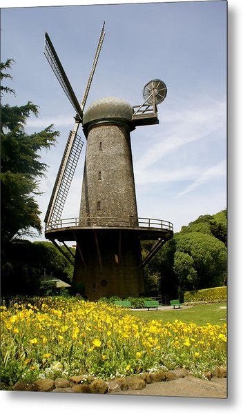 Dutch Windmill Metal Print by Sonja Anderson