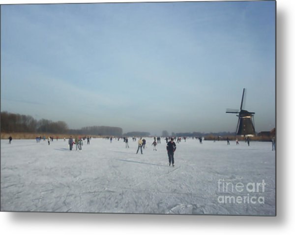 Dutch Winter Landscape Metal Print