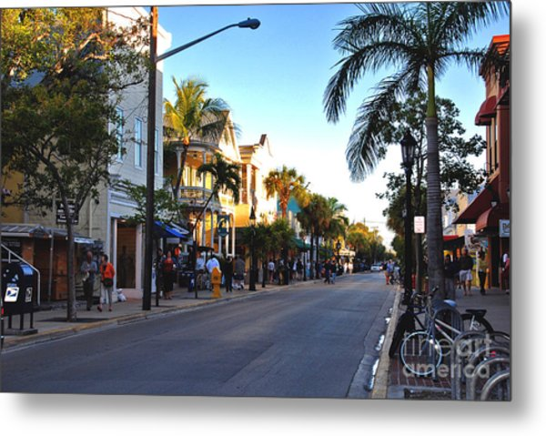 Duval Street In Key West Metal Print