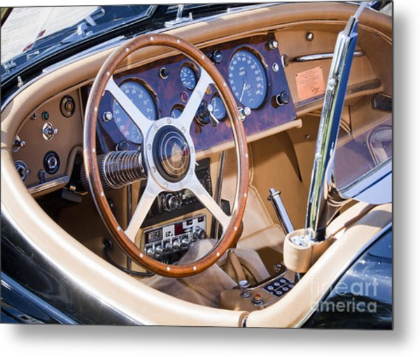 E-type Jaguar Dashboard Metal Print