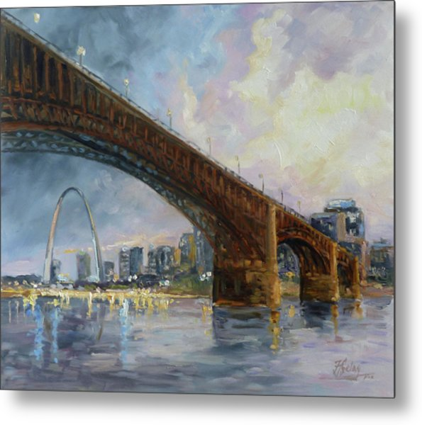 Eads Bridge - St.louis Metal Print