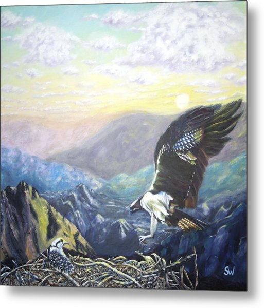 Eagle At Home Metal Print