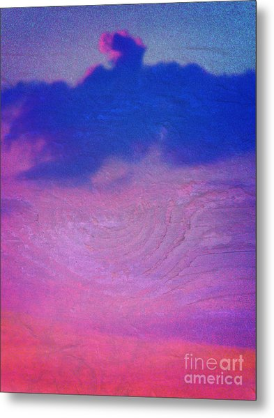 Eagle Cloud In The Sky Metal Print by Rose  Hill