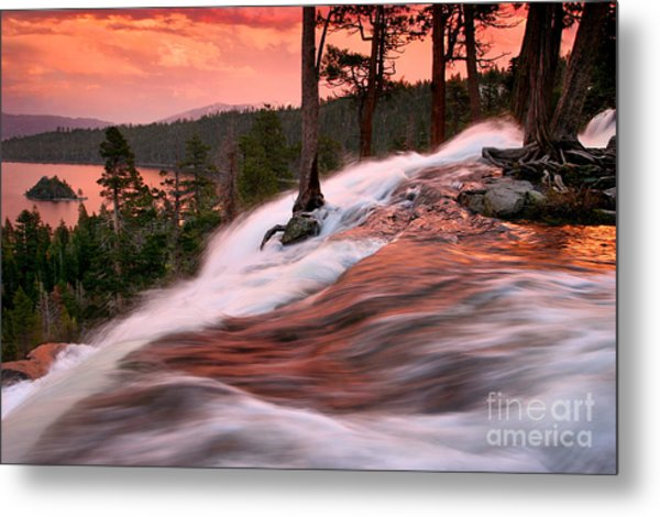 Eagle Falls Evening Metal Print by Buck Forester