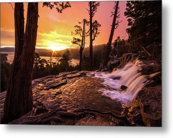 Eagle Falls Sunrise Metal Print