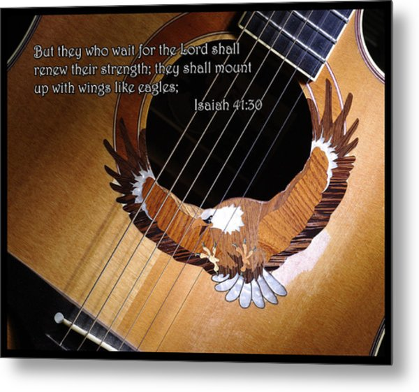 Eagle Guitar Metal Print