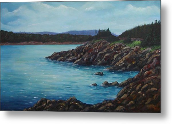 Eagle Point Cape Breton Island Nova Scotia Metal Print by Sharon Steinhaus