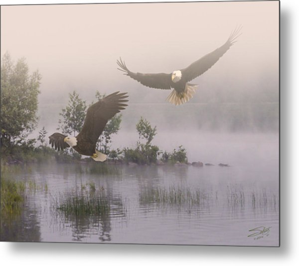 Eagles At Dawn Metal Print