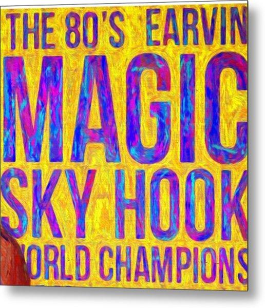 Ear In Magic Johnson Showtime No Look Metal Print