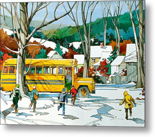 Early Bus Metal Print by Art Scholz