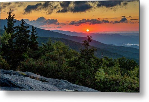 Blue Ridge Parkway Sunrise - Beacon Heights - North Carolina Metal Print