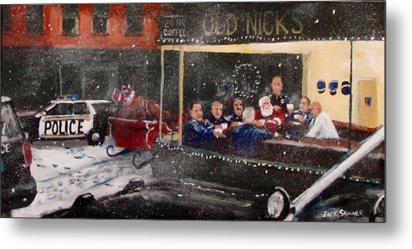 Early Christmas Morning Coffee Metal Print