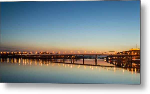 Early Evening Bridge At Sunset Metal Print