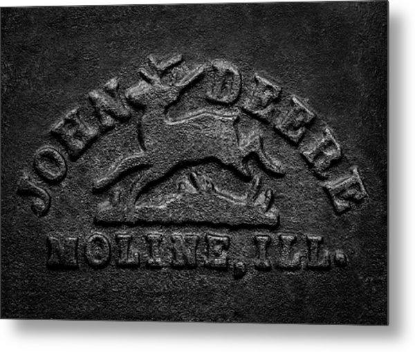 Early John Deere Emblem Metal Print