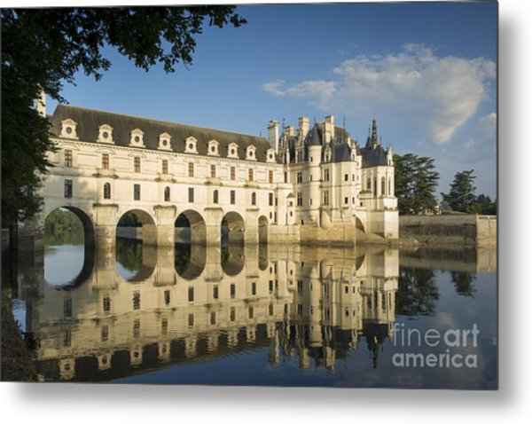 Early Morning At Chateau Chenonceau Metal Print