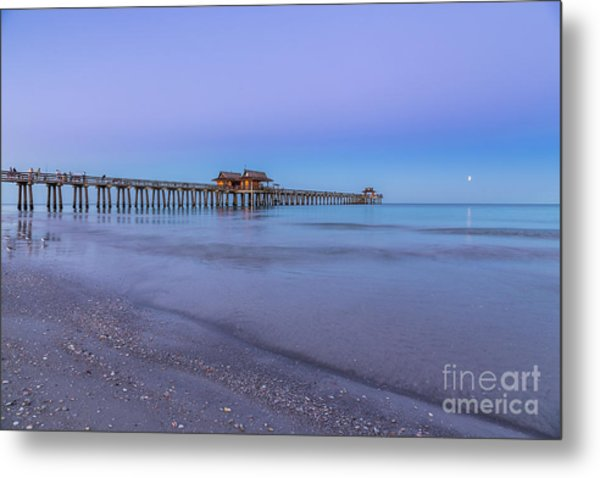 Early Morning At Naples Pier Metal Print