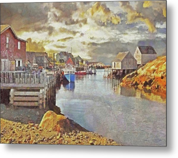 Early Morning At Peggy's Cove In Nova Scotia Metal Print