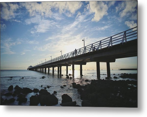 Early Morning At The Pier Metal Print