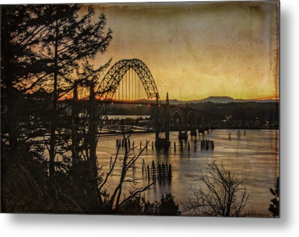 Early Morning At The Yaquina Bay Bridge  Metal Print