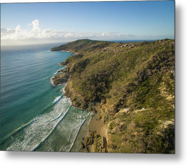 Early Morning Coastal Views On Moreton Island Metal Print