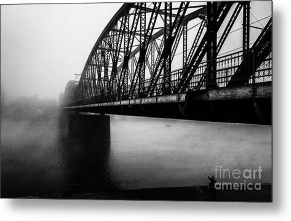 Early Morning Fishermen Metal Print