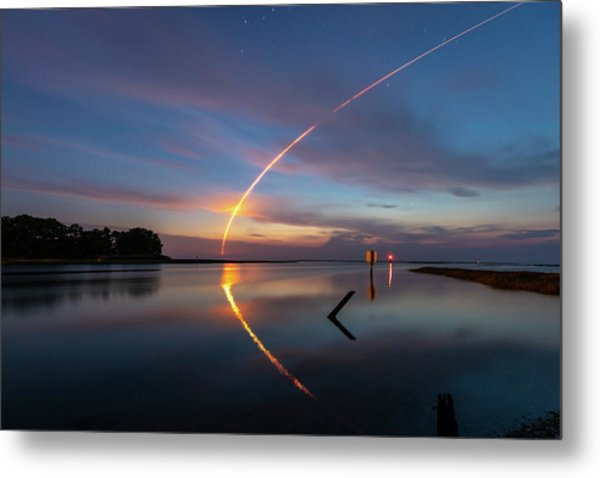 Early Morning Launch Metal Print