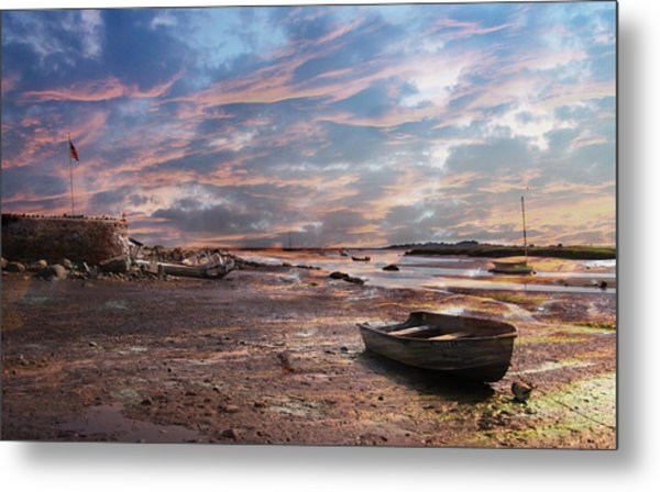 Early Morning Low Tide On The North Shore Metal Print