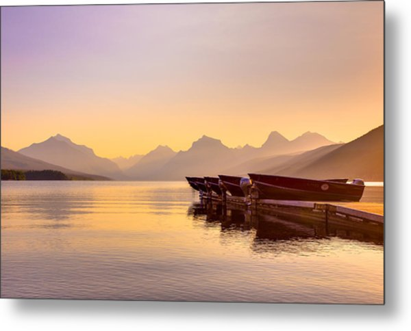 Early Morning On Lake Mcdonald Metal Print