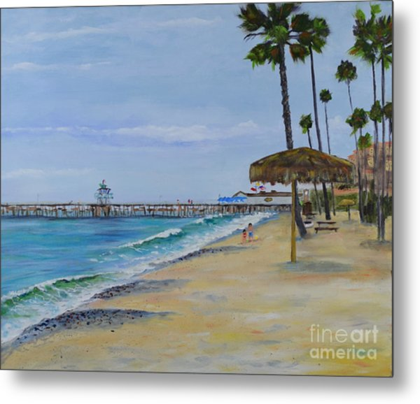 Early Morning On The Beach Metal Print