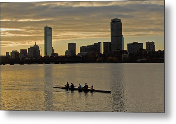 Early Morning On The Charles River Metal Print