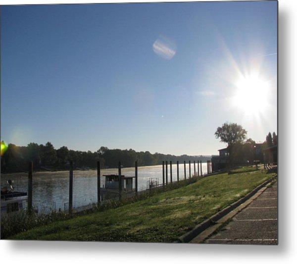 Early Morning On The Savannah River Metal Print
