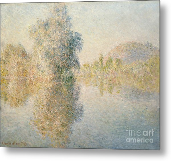 Early Morning On The Seine At Giverny Metal Print