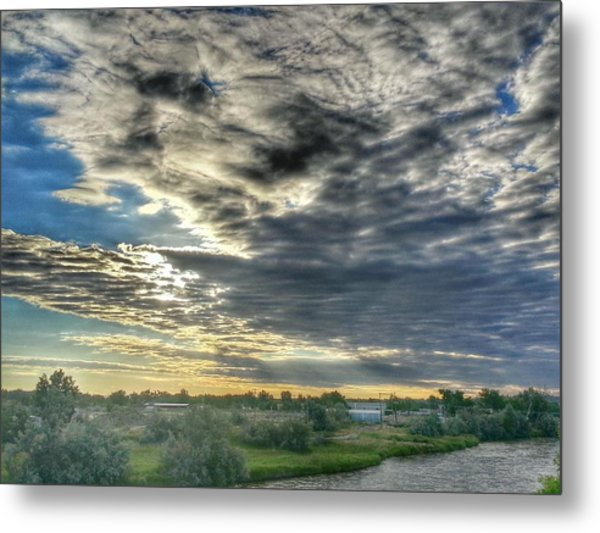 Early Morning Over The North Platte Metal Print by Chris Short
