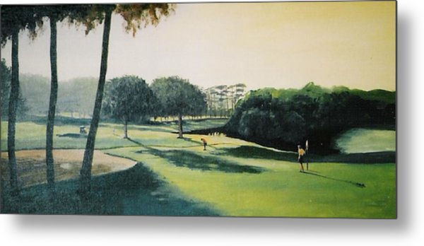 Early Morning Round Metal Print by Barry Smith