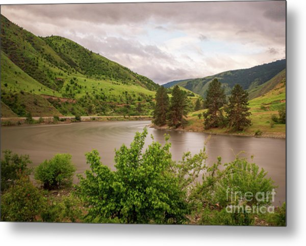 Early Morning Smoothy Waterscape Art By Kaylyn Franks  Metal Print