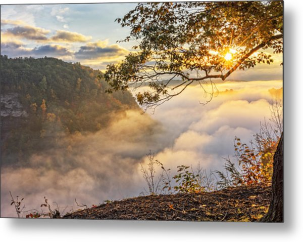 Early Morning Sunrise At Letchworth State Par Metal Print