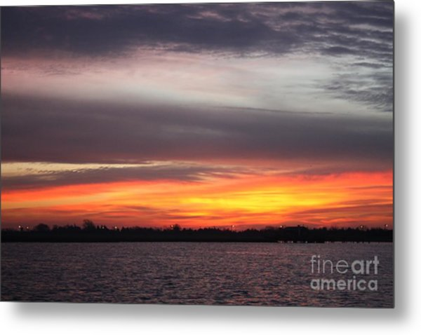 Early Morning Suns Rays Metal Print