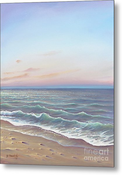 Early Morning Waves Metal Print