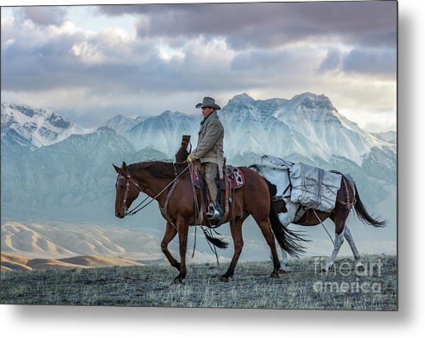 Early October Hunt Wild West Photography Art By Kaylyn Franks Metal Print
