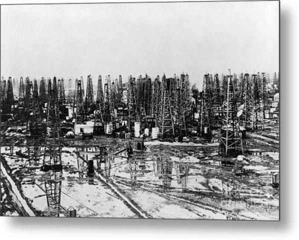 Early Oil Field Metal Print