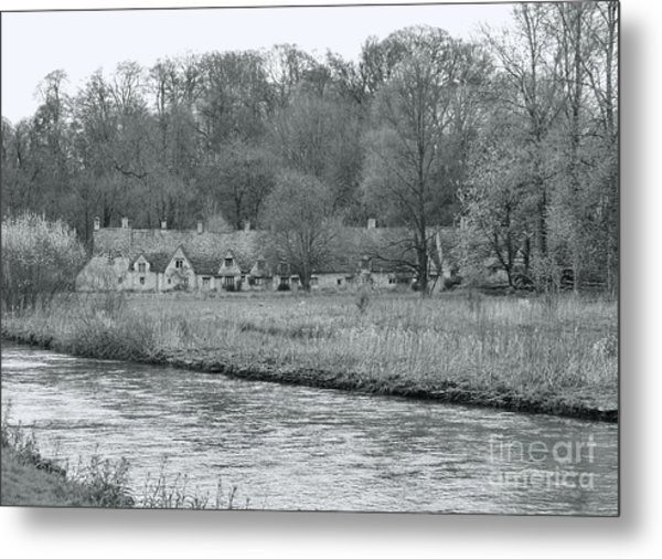 Early Spring In England Black And White Metal Print