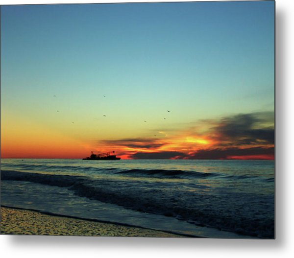 Early Start  Metal Print