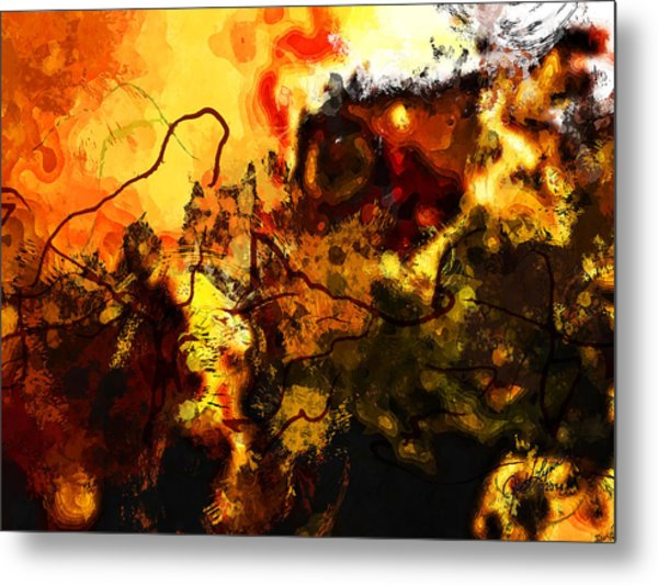 Earth And Sun Metal Print