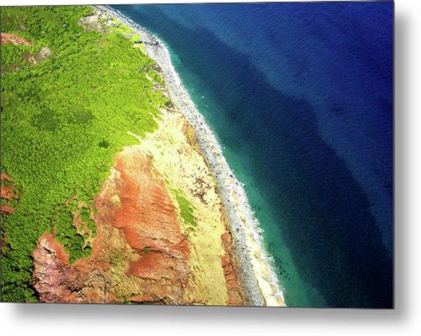 Earth Below, Na Pali Coast, Kauai Hawaii Metal Print