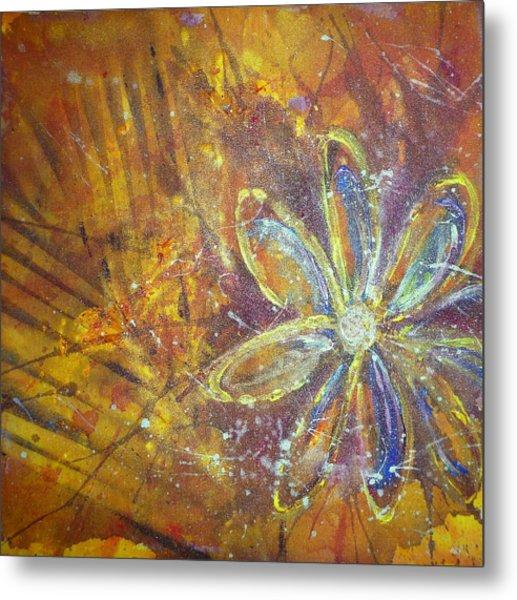 Earth Flower Metal Print