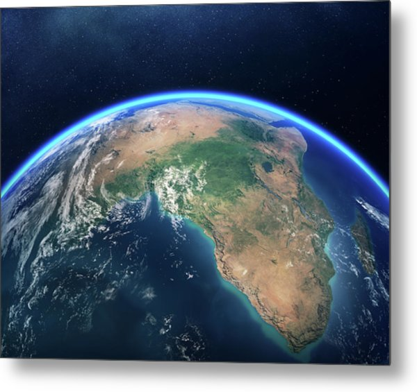Earth From Space Africa View Metal Print