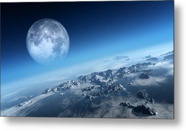 Earth Icy Ocean Aerial View Metal Print