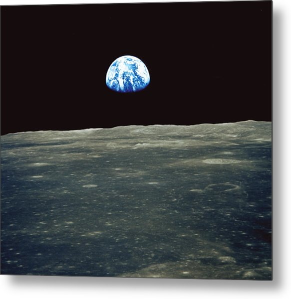 Earthrise Photographed From Apollo 11 Spacecraft Metal Print